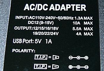AC/DCマルチアダプタ